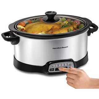 Hamilton Beach Silver 7-quart Programmable Silver Slow Cooker