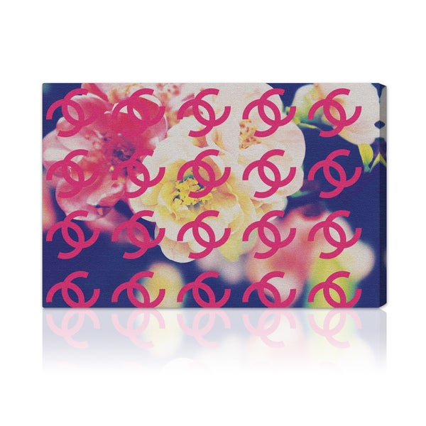 Oliver Gal 'Coco's Camellia' Modern Canvas Print