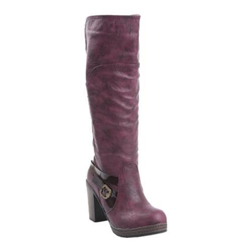 Women's Reneeze Anna-02 Burgundy High-Heel Boots