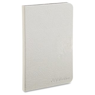 Verbatim Folio Case with LED Light for Kindle - Pearl White