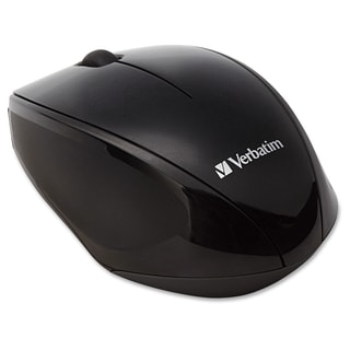 Verbatim Wireless Notebook Multi-Trac Blue LED Mouse - Black