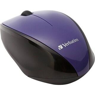 Verbatim Wireless Notebook Multi-Trac Blue LED Mouse - Purple