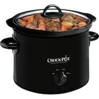 Crock-Pot 3-Quart Manual Slow Cooker, Black