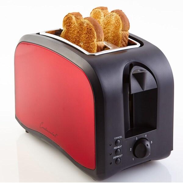 Continental Toaster 2-Slice Adjustable Browning