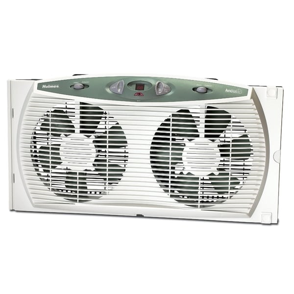 Holmes Hawf3095 U Accutemp Plus Dual Blade Twin Window Fan
