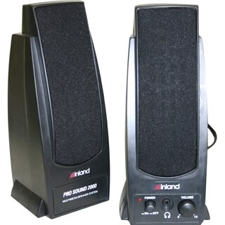 Inland Pro Sound 2000 2.0 Speaker System - 7.2 W RMS - Black