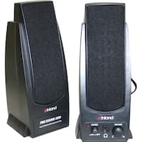 Inland Products Pro Sound 2000 2.0 Speaker System - 7.20 W RMS - Blac