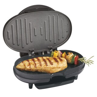 Proctor Silex Black Compact Electric Grill