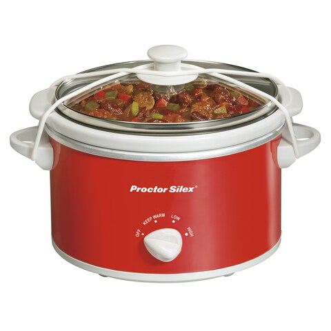 Proctor-Silex Red 1.5 Quart Oval Slow Cooker