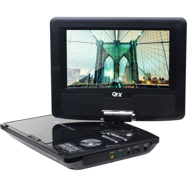 "QFX PD-110 Portable DVD Player - 10"" Display - Black"