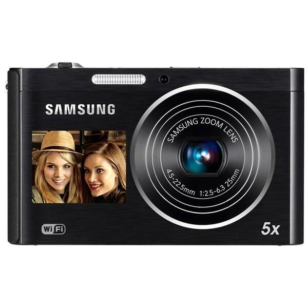 Samsung DualView DV300F 16 Megapixel Compact Camera - Black