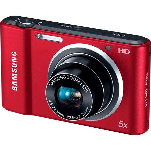 Samsung Style ST66 16.1 Megapixel Compact Camera - Red