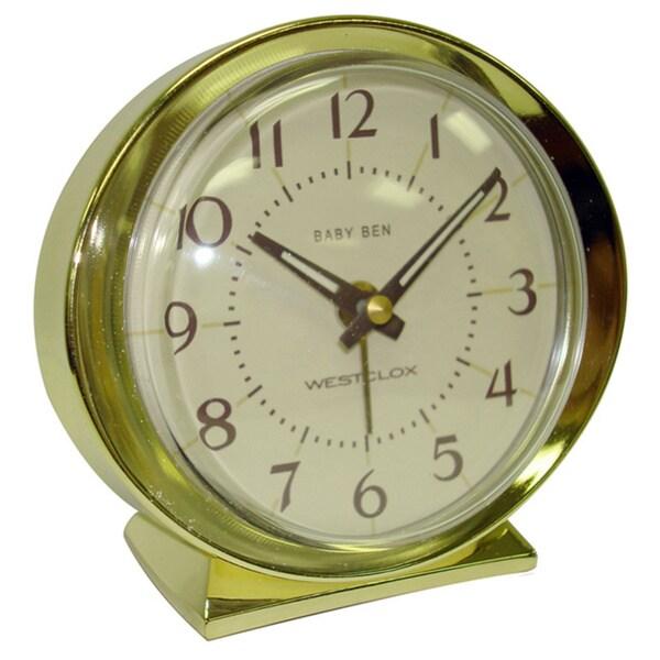 Baby Ben Goldtone Battery Powered Alarm Clock
