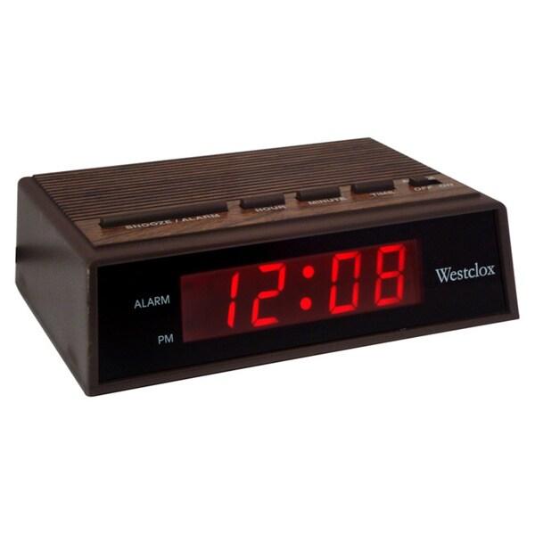 Woodgrain Electric Alarm Clock