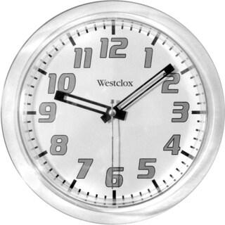 Westclox 7.75-inch Clear Translucent Wall Clock