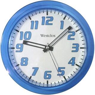 Westclox 7.75 Blue Translucent Wall Clock