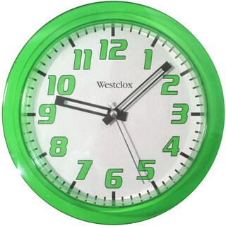 Westclox 7.75-inch Green Translucent Wall Clock