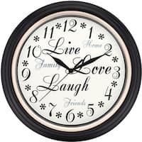 Westclox 12-inch Live Love Laugh Wall Clock