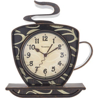 "Westclox 9.5"" Black Decorative Wall Clock"