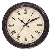 Classic Brown Distressed Cream Oversized 20-inch Clock
