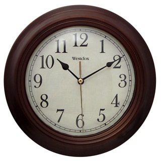 Brown Wood 9.5-inch Wall Clock