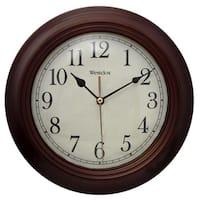Brown 9.5-inch Wall Clock