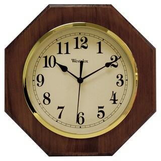 Honey Pine Wood Octagon 10-inch Wall Clock