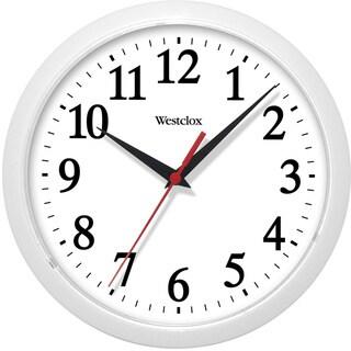 Westclox 10-inch White Basic Wall Clock
