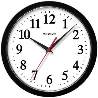 Westclox 10-inch Black Basic Wall Clock