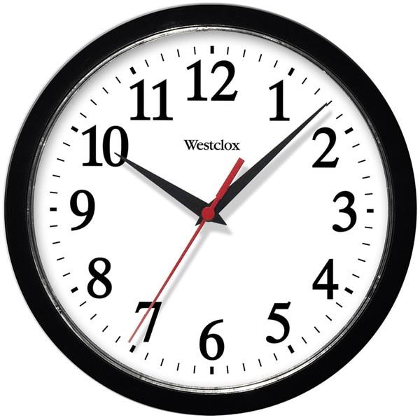 Home Goods Clocks: Shop Westclox 10-inch Black Basic Wall Clock