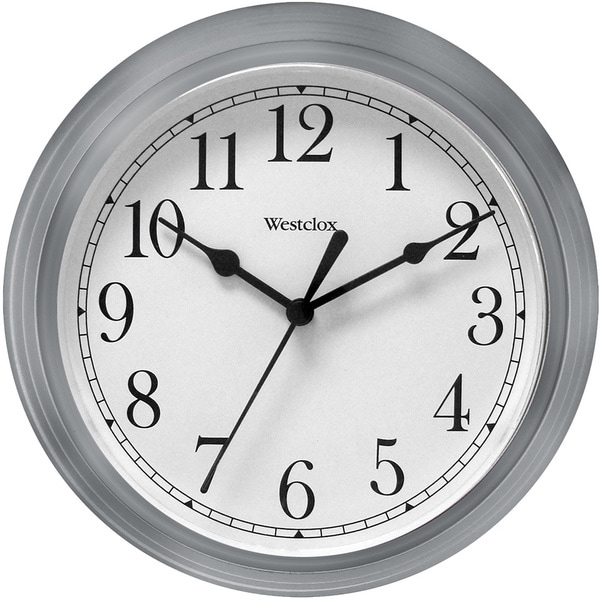 Westclox 9.5-inch Silver Decorative Wall Clock