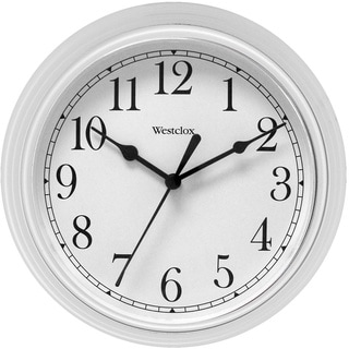 Westclox 9.5-inch White Decorative Wall Clock