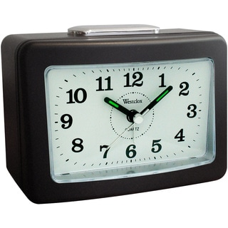 Westclox No Tick Loud Bell Analog Alarm Clock