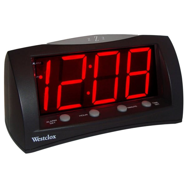 extra large led display alarm clock free shipping on orders over 45 15092612. Black Bedroom Furniture Sets. Home Design Ideas