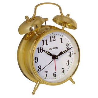 Westclox Metal Twin Bell Gold Alarm Clock