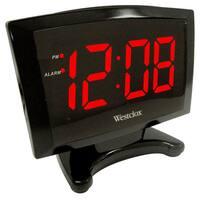 Westclox Large 1.8-inch LED Plasma Digital Display Alarm Clock