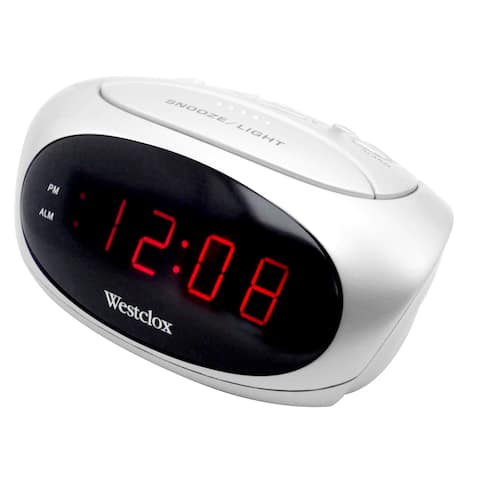 Westclox White Electric Powered Super Loud Alarm Clock