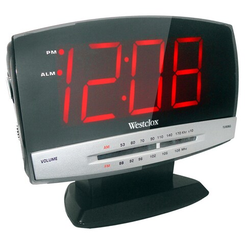 Large Plasma 1.8-inch LED Display Clock Radio
