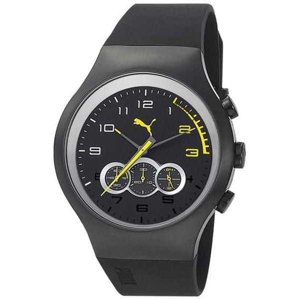 Puma Men's Stainless Steel Black Rubber 'Sport' Watch