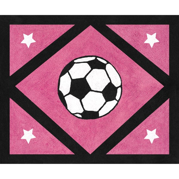 Shop Sweet Jojo Designs Girl S Soccer Accent Floor Rug