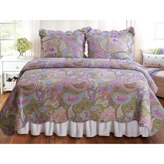 Greenland Home Fashions Portia Paisley 3-piece Quilt Set