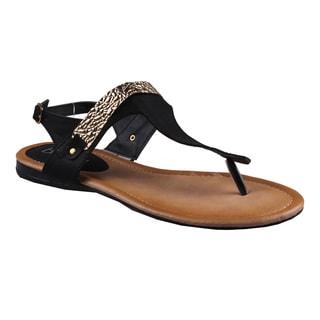 Refresh by Beston Women's 'Kiki-10' Gladiator Sandals