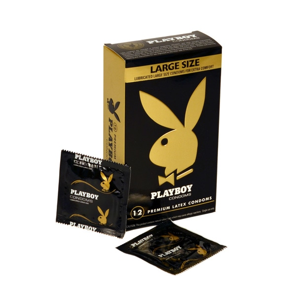 Playboy Lubricated Large Size Latex Condoms (Pack of 36)