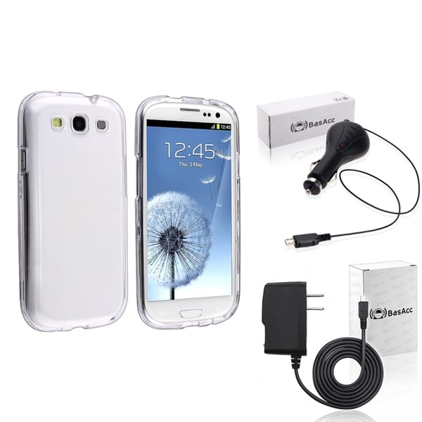 INSTEN Phone Case Cover/ Travel Charger/ Car Charger for Samsung Galaxy S III/ S3