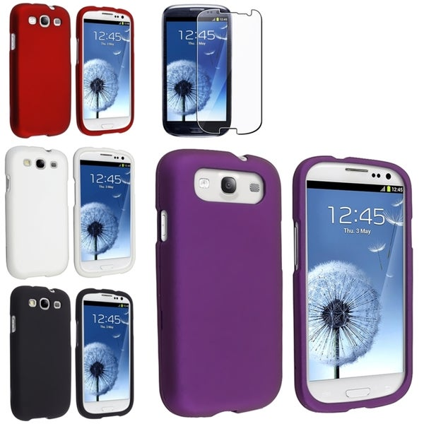 BasAcc Black/ White/ Red Case/ Screen Protector for Samsung© Galaxy S3