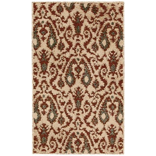 Kindred Damask Ivory/Brown Area Rug (2'3 x 3'9)