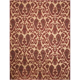 Kindred Damask Ivory/Brown Area Rug (2'3 x 3'9)