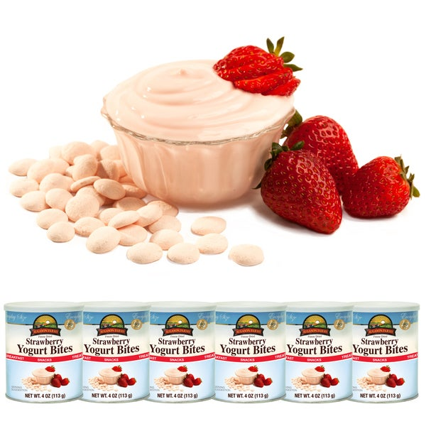 Augason Farms Freeze Dried Strawberry Yogurt Bites (Pack of 6)