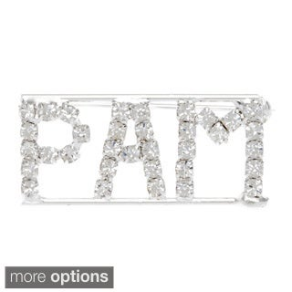 Detti Originals Silver 'P Collection' Crystal Name Pin