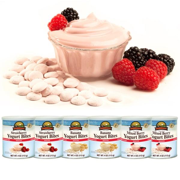 Augason Farms Freeze Dried Variety Yogurt Bites (Pack of 6)